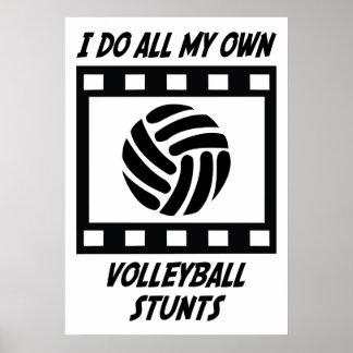 Trucos del voleibol póster