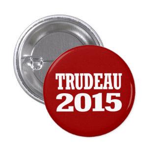 Trudeau 2015 pin redondo de 1 pulgada