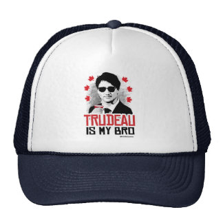 Trudeau is my Bro -.png Trucker Hat