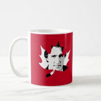Trudeau Maple Leaf - White.png Coffee Mug
