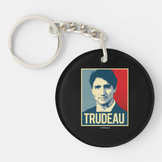 Trudeau Propaganda Poster -.png Keychain