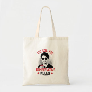 Trudeau - Too Cool for Conservative Rules -.png Tote Bag