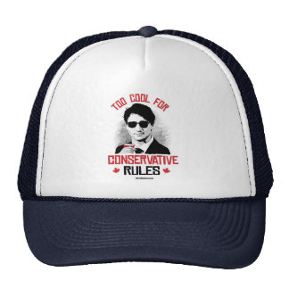 Trudeau - Too Cool for Conservative Rules -.png Trucker Hat