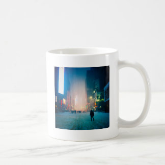 Trudging Through The Snow In Times Square Coffee Mug