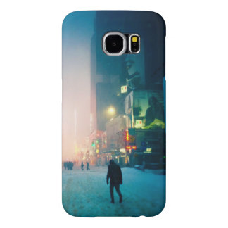 Trudging Through The Snow In Times Square Samsung Galaxy S6 Case