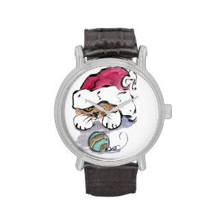 Trudy está ocultando en el gorra de Santa Reloj De Mano