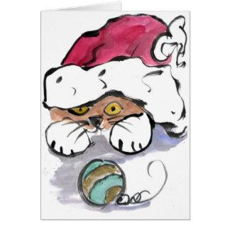 Trudy está ocultando en el gorra de Santa Felicitacion
