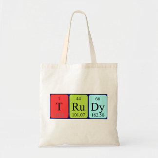 Trudy periodic table name tote bag