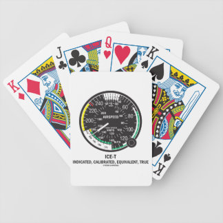 True Airspeed Indicator (ICE-T Mnemonic) Bicycle Playing Cards
