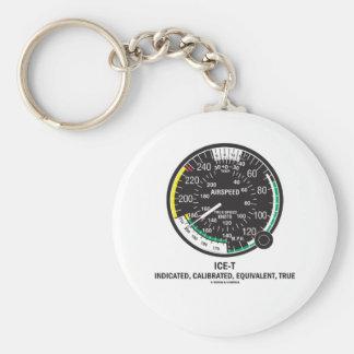True Airspeed Indicator (ICE-T Mnemonic) Keychain