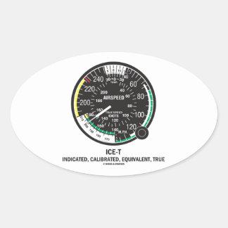 True Airspeed Indicator (ICE-T Mnemonic) Oval Sticker