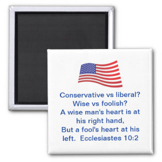 True American 2 Inch Square Magnet