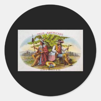 True Americans tobacco Classic Round Sticker