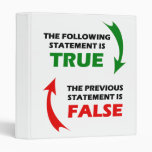 True and False Statements 3 Ring Binders