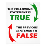 True and False Statements Full Color Flyer