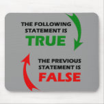 True and False Statements Mouse Pad