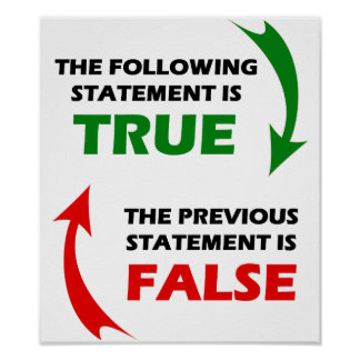 True and False Statements Poster