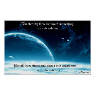 True and sublime eternity poster