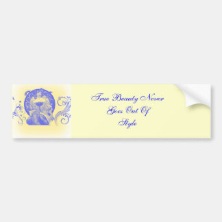 True Beauty in Blue Bumper Sticker