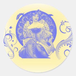 True Beauty in Blue Classic Round Sticker