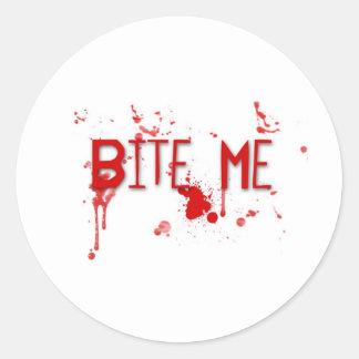 "True Blood ""Bite Me"" Classic Round Sticker"