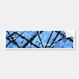 TRUE BLUE (an abstract art design) ~ Bumper Sticker