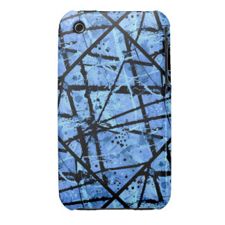 TRUE BLUE!  (an abstract art design) ~ iPhone 3 Cover