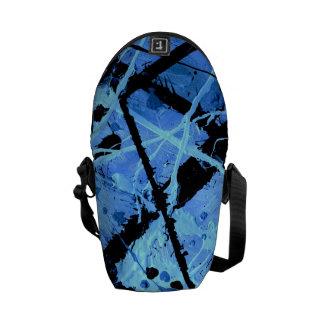 TRUE BLUE (an abstract art design) ~ Messenger Bags