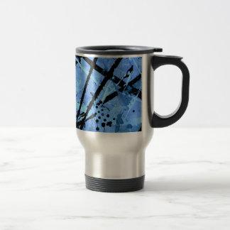 TRUE BLUE (an abstract art design) ~ 15 Oz Stainless Steel Travel Mug