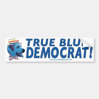 True Blue Democrat Bumper Sticker  Car Bumper Sticker