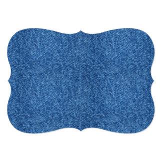 True Blue Denim Jeans Pattern Background Fabric Card