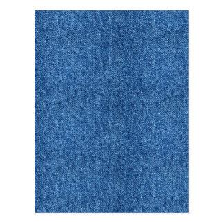 True Blue Denim Jeans Pattern Background Fabric Postcard