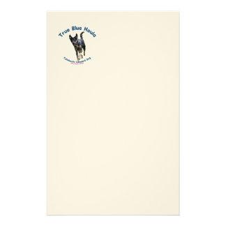 True Blue Houla Catahoula Dog Custom Stationery