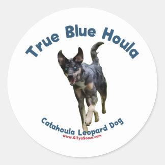 True Blue Houla Catahoula Dog Classic Round Sticker