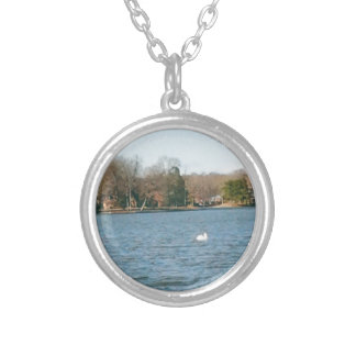 True Blue Silver Plated Necklace