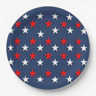 True Blue Veterans Day Party Paper Plates