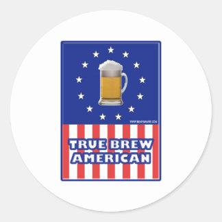 True Brew American Classic Round Sticker