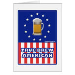 True Brew American Greeting Card