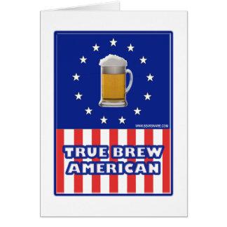 True Brew American Greeting Card