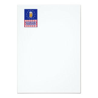 """True Brew American 5"""" X 7"""" Invitation Card"""