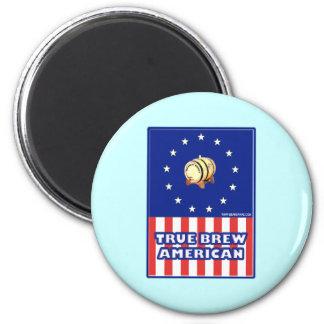 True Brew American Wine 2 Inch Round Magnet
