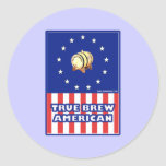 True Brew American Wine Classic Round Sticker