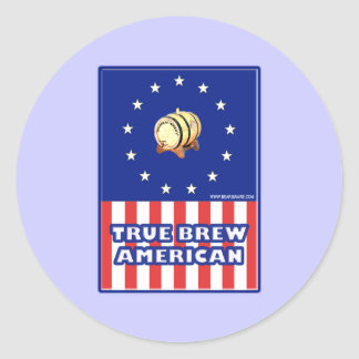 True Brew American Wine Classic Round Sticker