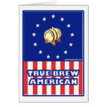 True Brew American Wine Greeting Card