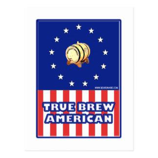 True Brew American Wine Postcard
