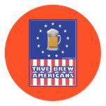 True Brew Americans Classic Round Sticker