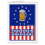 True Brew Americans Greeting Card