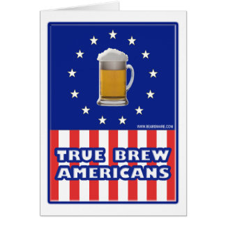 True Brew Americans Greeting Cards