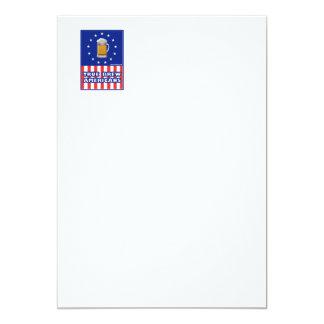 "True Brew Americans 5"" X 7"" Invitation Card"