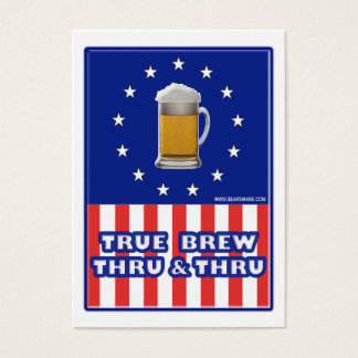 True Brew Thru & Thru Business Card